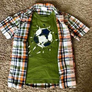 Crazy 8 Boys Size M (7-8) 2 Shirt Set